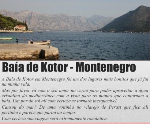 Baia de Kotor - Montenegro